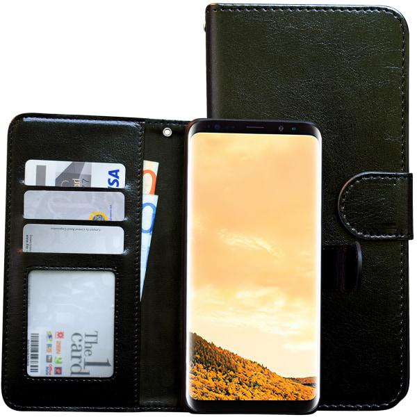 Samsung Galaxy S8 - Läderfodral / Magnet Skal Brun
