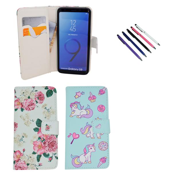 Samsung Galaxy S9 - Läderfodral / Skydd Rosa
