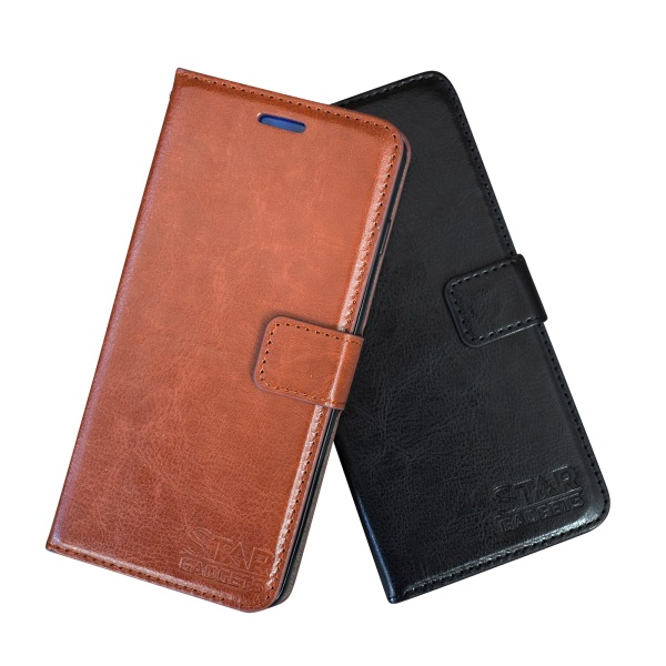 Samsung Galaxy S9 - Läderfodral / Skydd Svart