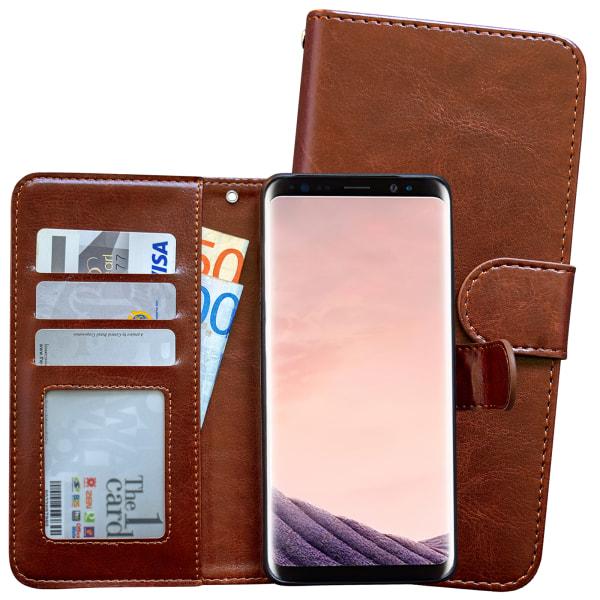Samsung Galaxy S9 Plus - Läderfodral / Magnet Skal Svart