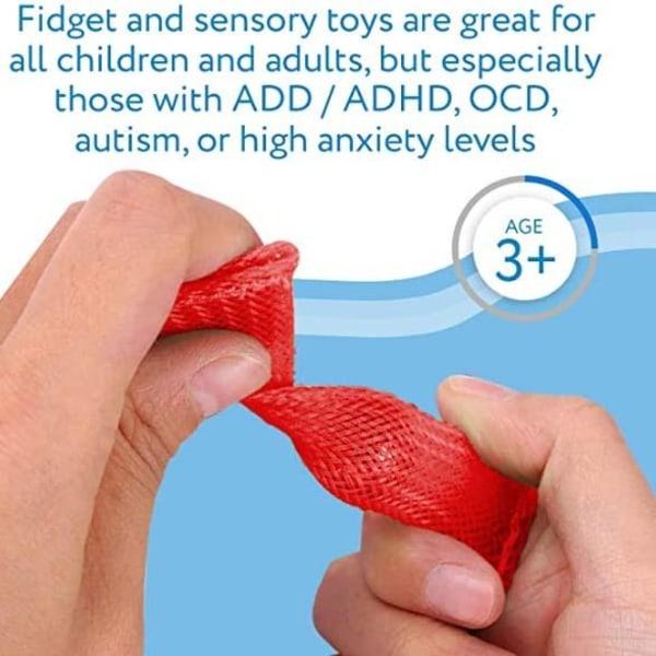 3 st - Marble and Mesh Sensory Fidget Toys  Gul, grön, lila