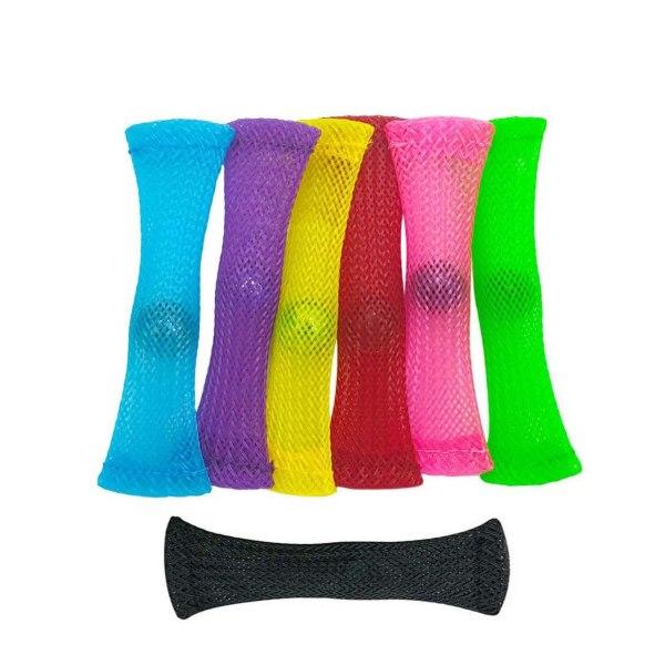 3 st - Marble and Mesh Sensory Fidget Toys  grön, gul, lila