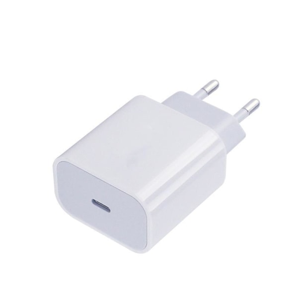 iPhone laddare för Apple 11/12 USB-C strömadapter 20W Vit