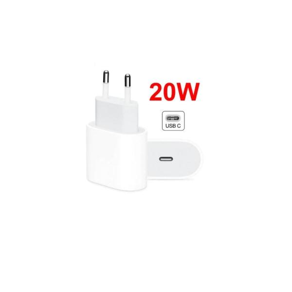 Apple iPhone laddare för  11/12 USB-C strömadapter 20W Vit