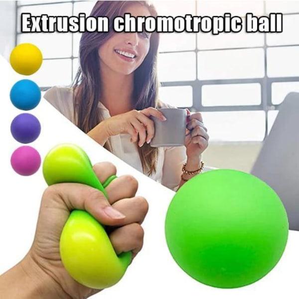 Fidget sensorisk leksaker tryck boll stressav lastare  Rosröd