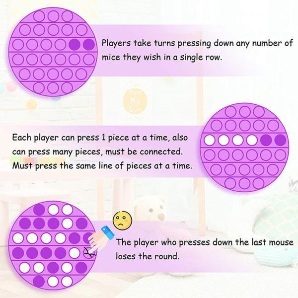 Pop it fidget toy bubble sensory push pop toy family toys Grön, Fyrkantig