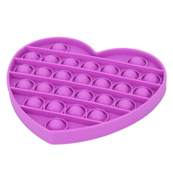 Alla hjärtans dag formad hjärta driver populära Fidget-leksaker Purple-Heart