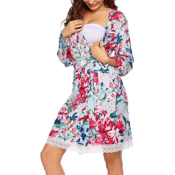 Amningspyjamas för kvinnor, tryckt underkjol i två delar