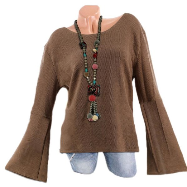 Autumn and Winter Women Long Color khaki 2XL