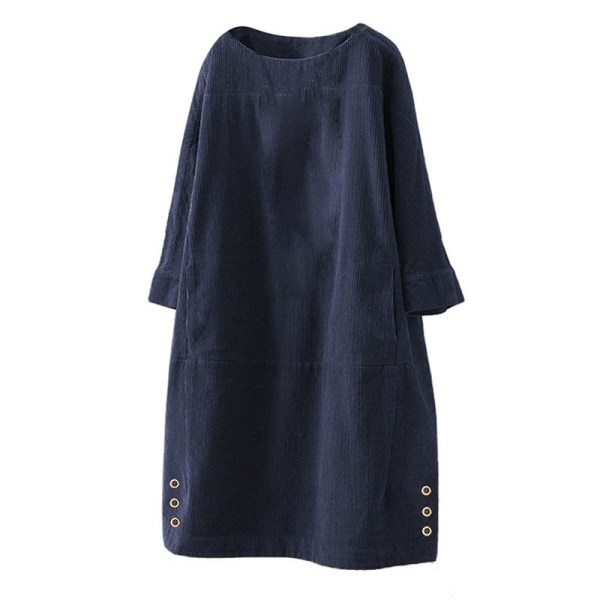 Höst & vinter Corduroy Enfärgade klänningar Mode Casual