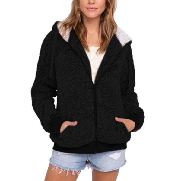 Höst Vinter Kvinnor Kontrast Färg Fleece Varm