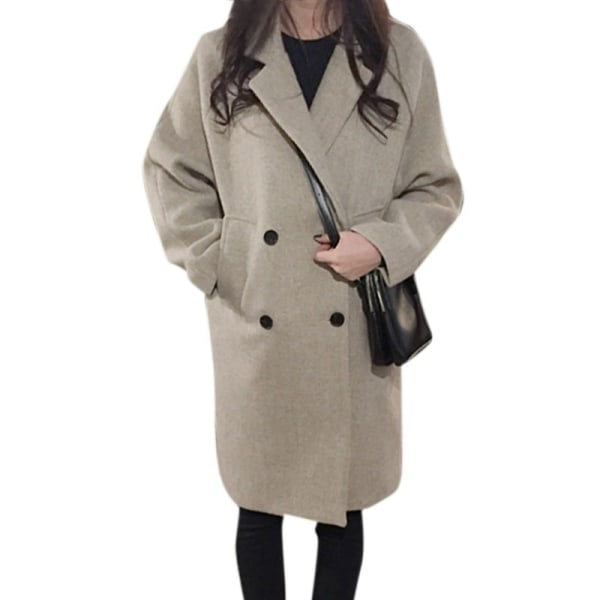 Höst Vinter Kvinnor Enfärgad Slim Woolen