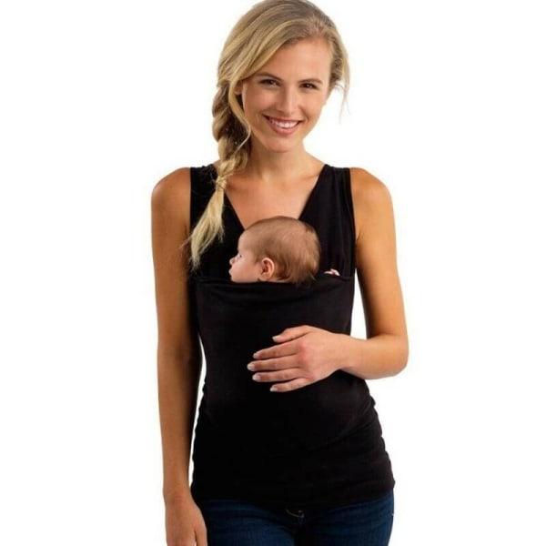 Baby Kangaroo T-shirt för män Mens sommar graviditet gravid