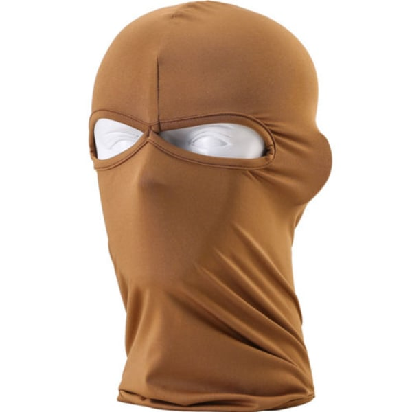 Lycra Bike Mask Vindtät hatt Motorcykeljakt Skidåkning hatt brown