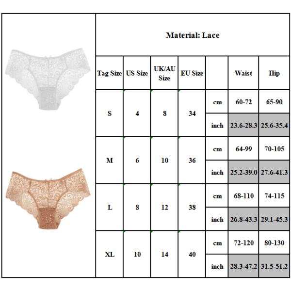 Dambyxor sömlös underkläder i jacquardbikini med låg midja Damb svart L