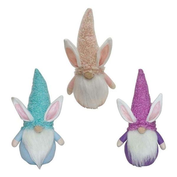 Påsk ansiktslösa docka plysch kanin ansiktslösa docka håller ägg blue app.26 x 13cm/10.24 x 5.12in