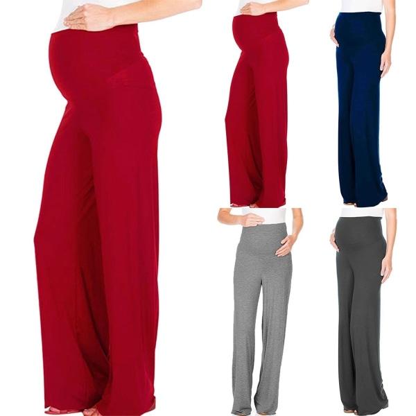 European and American Pregnant Women Wide Leg gray 2XL