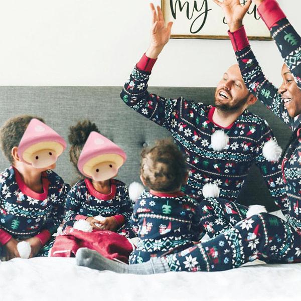 Europeisk och amerikansk pyjamas med föräldra-barnhem