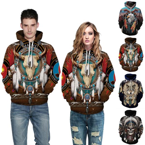 Fashion Couples Hooded Skull Galaxy Print Women Men Hpoodies