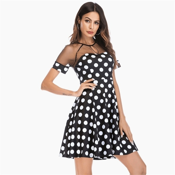 Mode spetsperspektiv Polka Dot-tryckta kvinnor