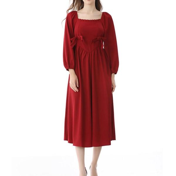 Fransk retro klänning fe nisch klänning Hepburn stil första kärlek