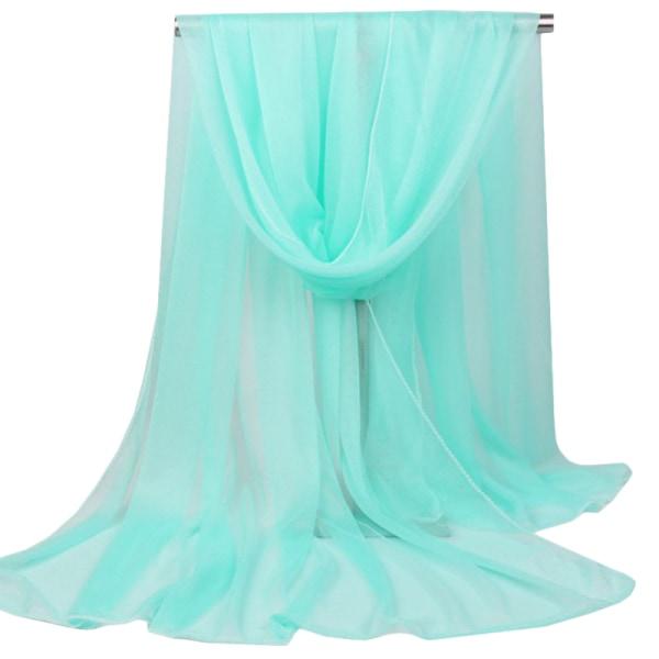 Kvinnors enfärgade halsduk halsduk sjal mode enkel halsduk light green 165*85cm