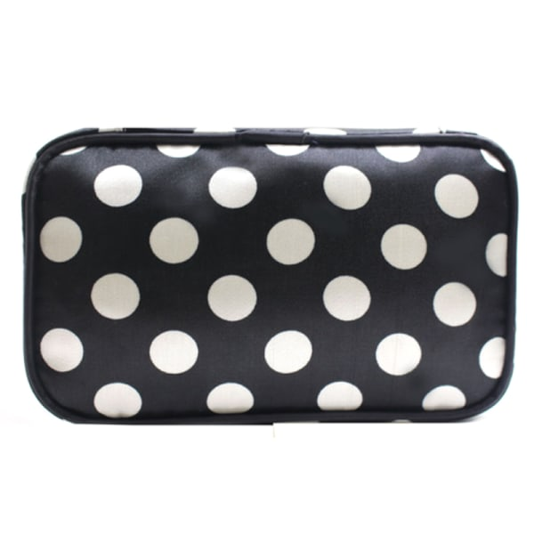plånbok Ladies 'fashion trend big dot kosmetisk väska förvaringsväska Black and White