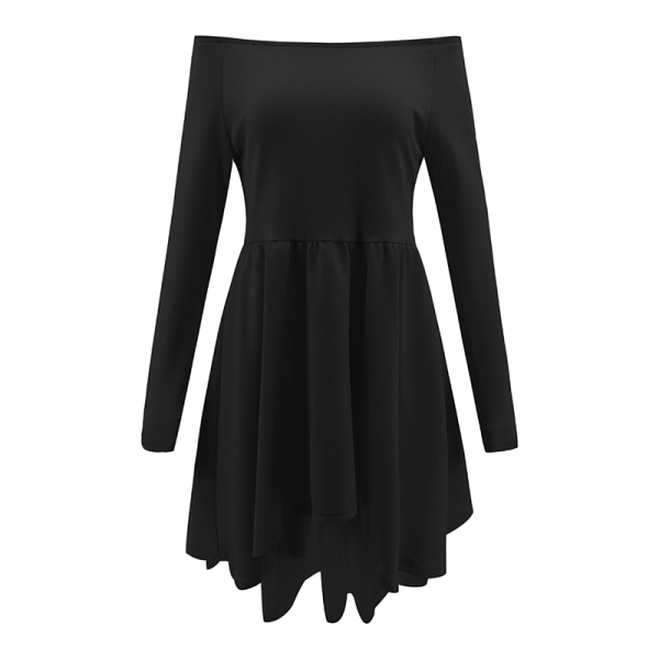 Lady Fashionabla puffkjol Kort kjol Långa ärmar Oregelbunden
