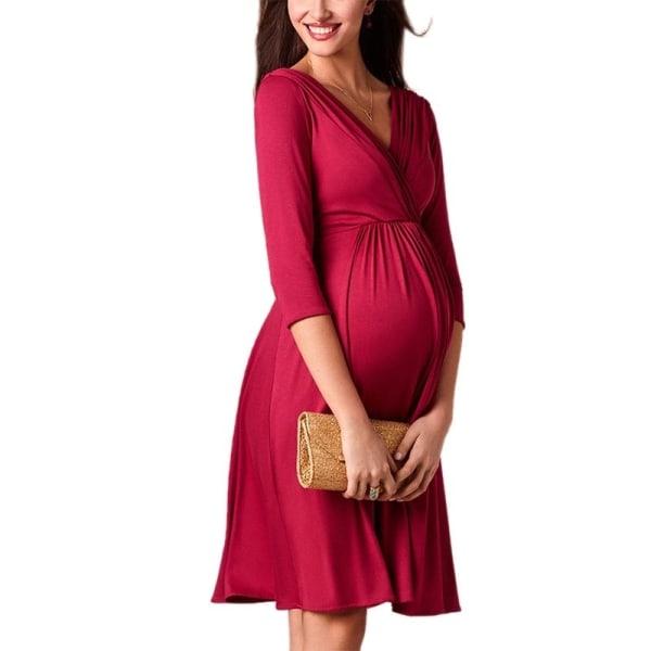 Maternity Breastfeeding Dresses Pregnant Women s black M