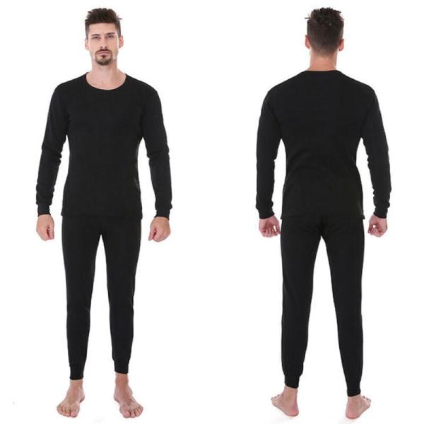Herr Casual termiska underkläder Set Långärmade Toppar + Varm botten