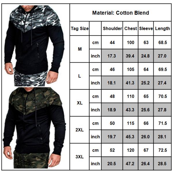 Herr kamouflage färgblock huva jacka vinterjacka kappa