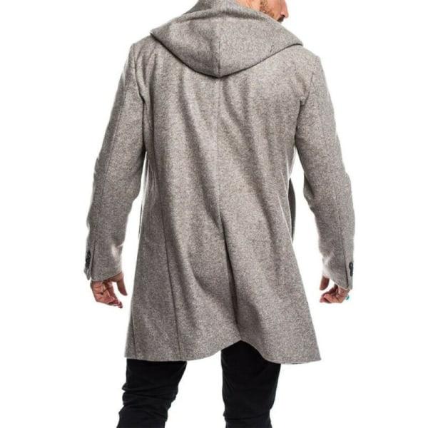 Mens vinter stilig varmare kappa långärmad herrkläder casual