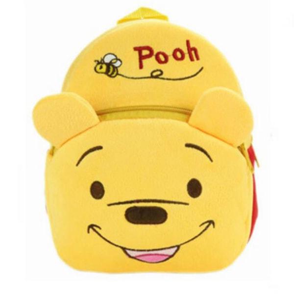 Studentryggsäck stor kapacitet väska tecknad skolväska Winnie the Pooh