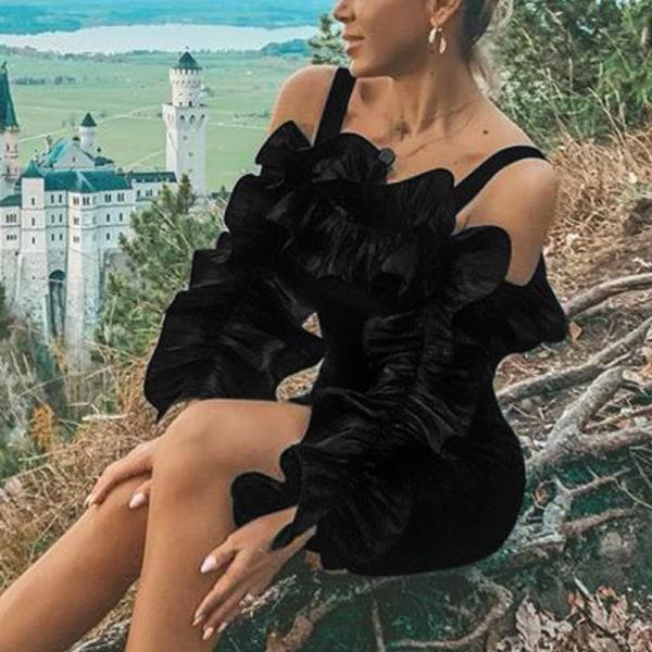 Ny kvinnors pennkjol sexig smal väska höftkjol kort kjol