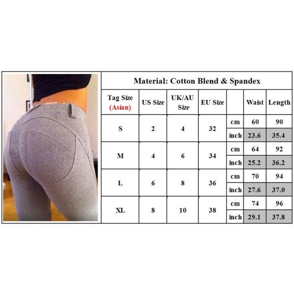 Pennbyxor för kvinnor,avslappnade och bekväma stretchbyxor,byxor svart S