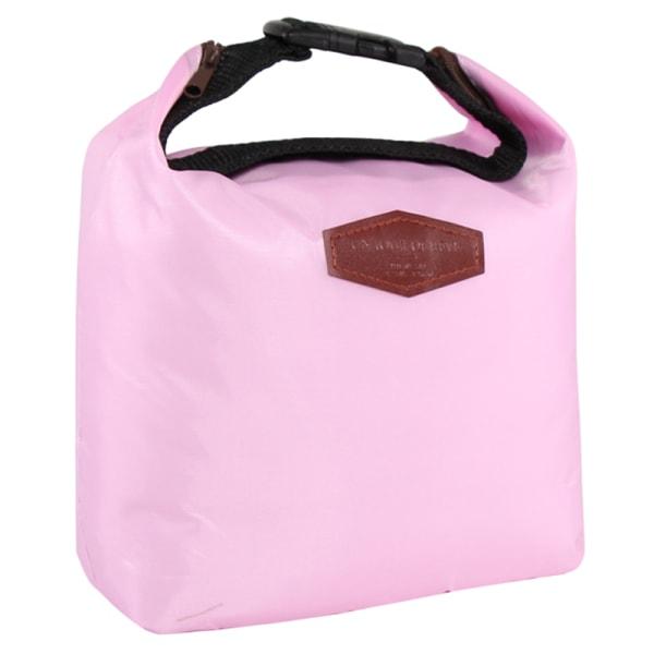 Picknickpåse bärbar bärbar spänneisoleringspåse utomhus Pink 21*9*27cm