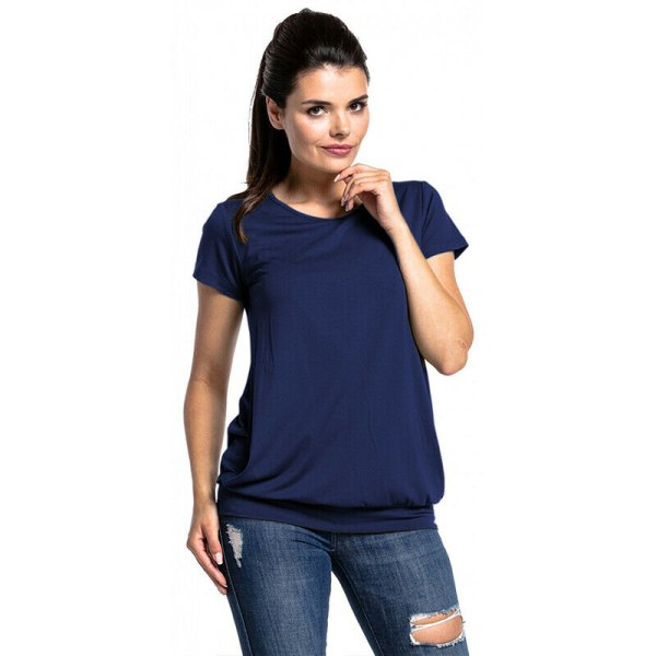 European and American fashion maternity T-shirt dark grey M