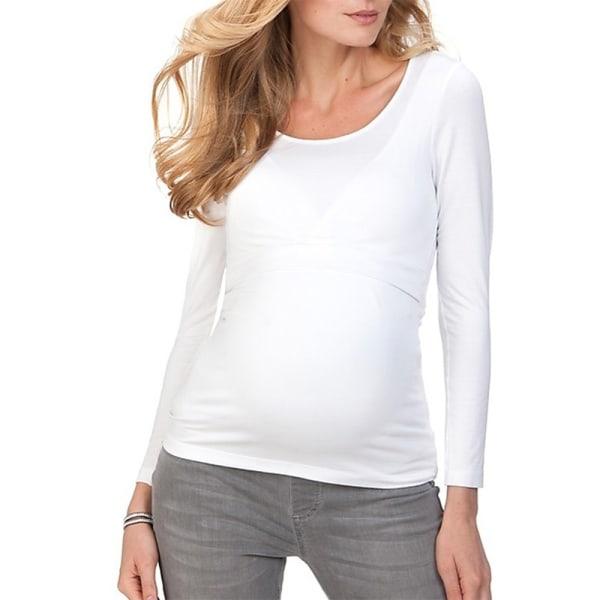 Pregnant Women Maternity Nursing Breastfeeding Blouses black XL