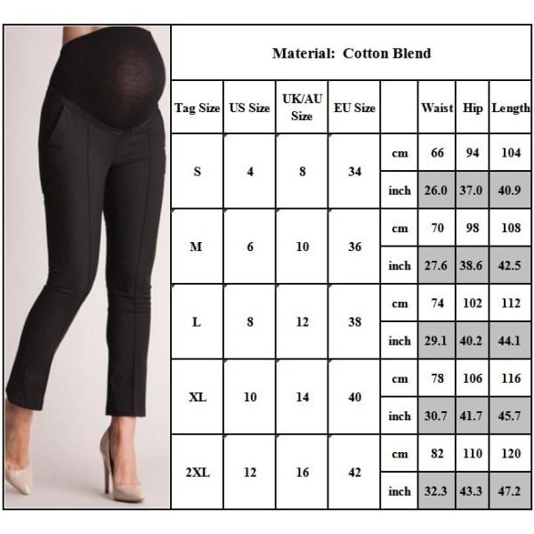 Pregnant Women Solid Color Stomach Lift Long Black L
