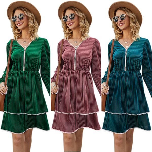 Ren färg kvinnor Cupcake klänning lager klänning