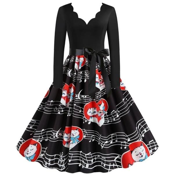 Sexig djup V-klänning Kvinnor damer Valentine s