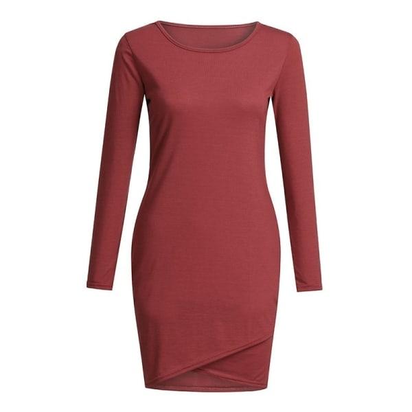 Sexig enfärgad mini-klänning