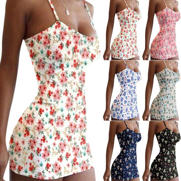 Sling Print Sexig smal blommig klänning