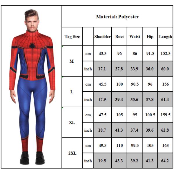 Spiderman digitaltryck herr bodysuit casual jumpsuit för män
