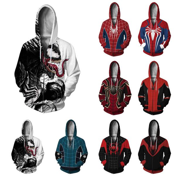 Spiderman-dragkedjetröja med huva och koftajacka