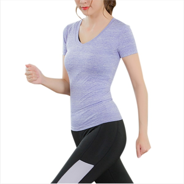 Sport Fitness Kvinnor Yoga kortärmad topp