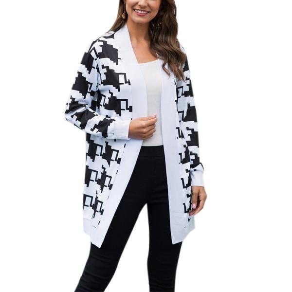 Winter Leopard Printed Coat Women Long