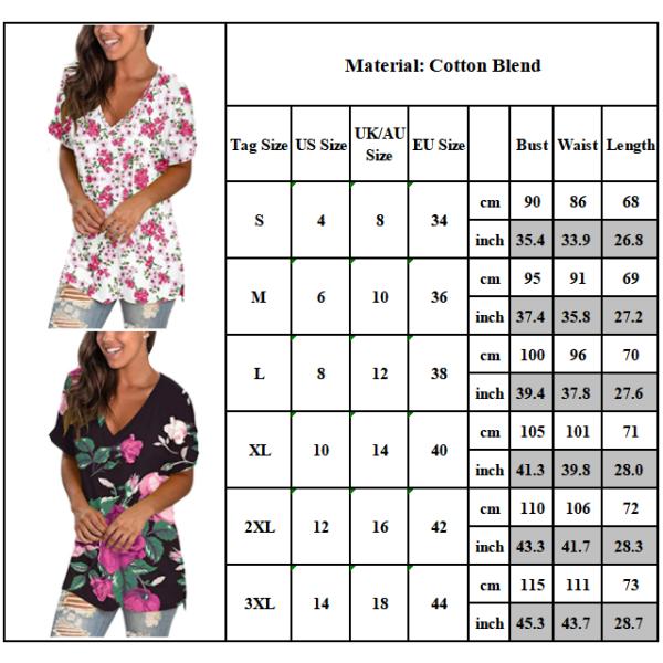 Kvinnans retro-temperament V-ringade gradient tie-dye korta ärmar purple S