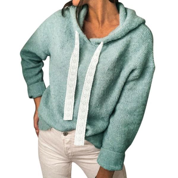 Women Autumn Long Sleeve Hoodies Sweatshirts Baggy Casual Blouse Green S
