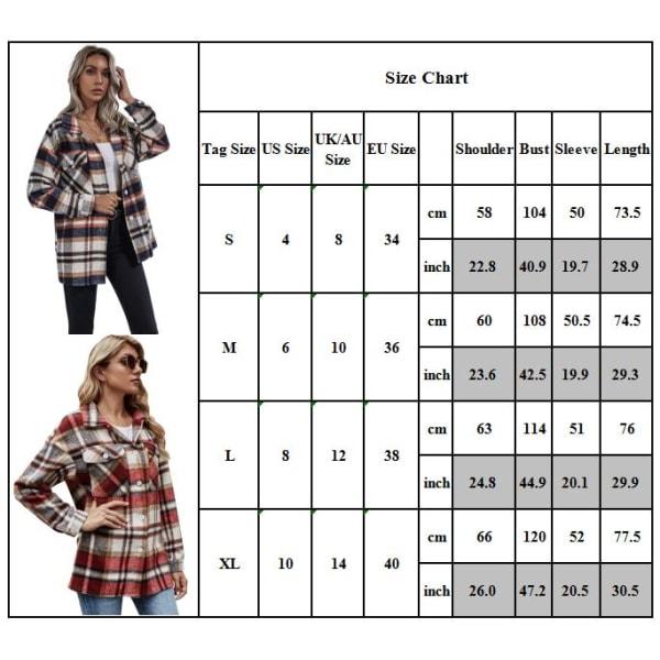 Kvinnor Button Coat Top Jacket Lapel Långärmad Casual Outwear